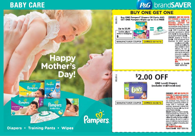 May Luvs Newspaper Coupon Insert